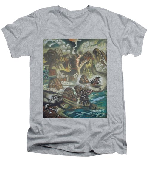 Dragon's Breath Men's V-Neck T-Shirt