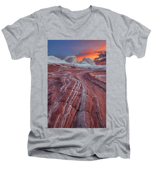 Dragons Tail Sunrise Men's V-Neck T-Shirt
