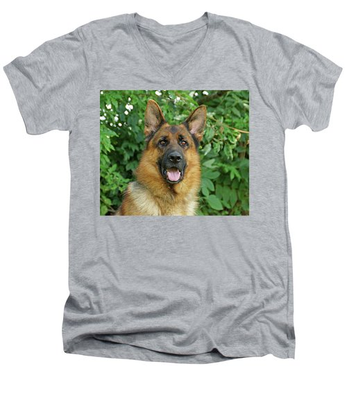 Men's V-Neck T-Shirt featuring the photograph Drake by Sandy Keeton