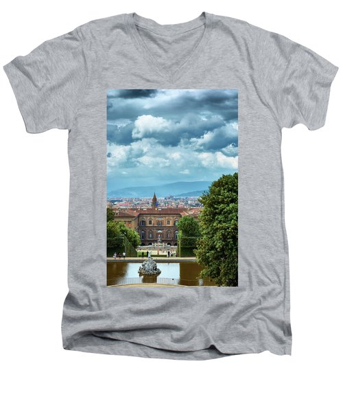 Drama In The Palace Of Firenze Men's V-Neck T-Shirt