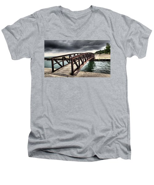 Dramatic Bridge Men's V-Neck T-Shirt
