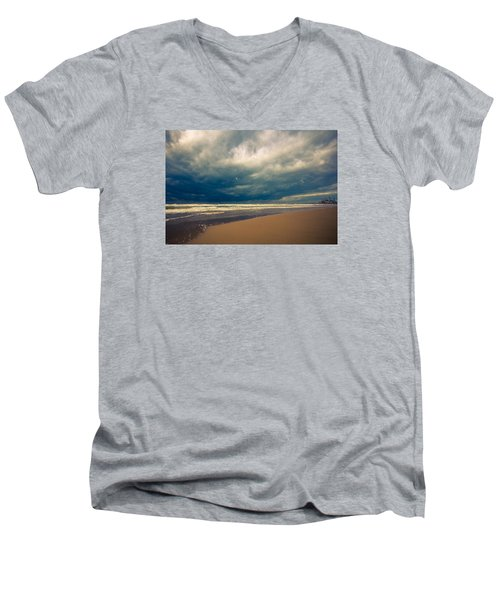 Dramatic Clouds Of Winter Men's V-Neck T-Shirt