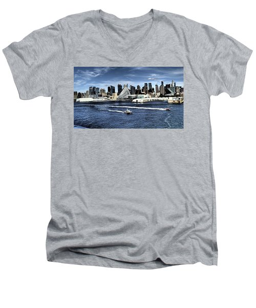 Dramatic New York City Men's V-Neck T-Shirt