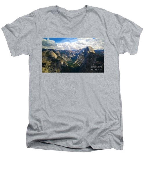 Dramatic Yosemite Half Dome Men's V-Neck T-Shirt