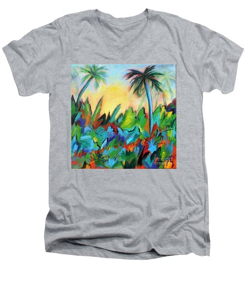 Drawn By The Color Men's V-Neck T-Shirt by Elizabeth Fontaine-Barr