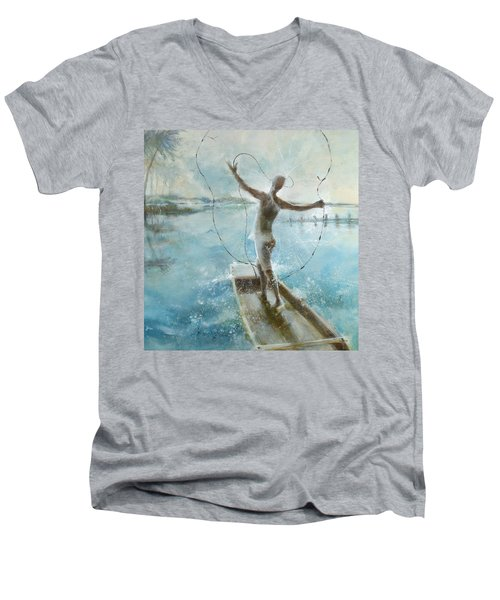 Dream Catcher Men's V-Neck T-Shirt by Gertrude Palmer