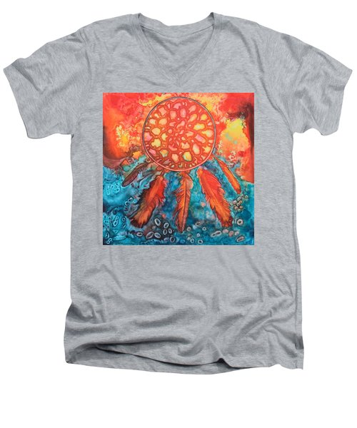 Dream Catcher Men's V-Neck T-Shirt by Nancy Jolley