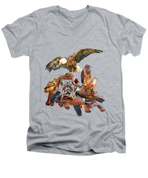 Dream Catcher - Spirit Birds Men's V-Neck T-Shirt