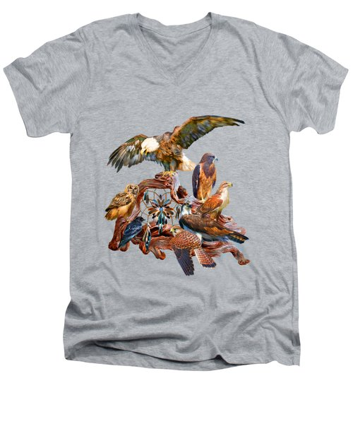 Dream Catcher - Spirit Birds Men's V-Neck T-Shirt