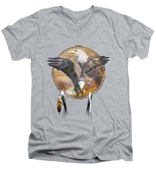 Dream Catcher - Spirit Eagle 3 Men's V-Neck T-Shirt
