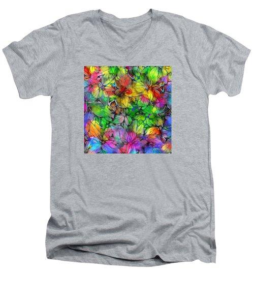 Dream Colored Leaves Men's V-Neck T-Shirt