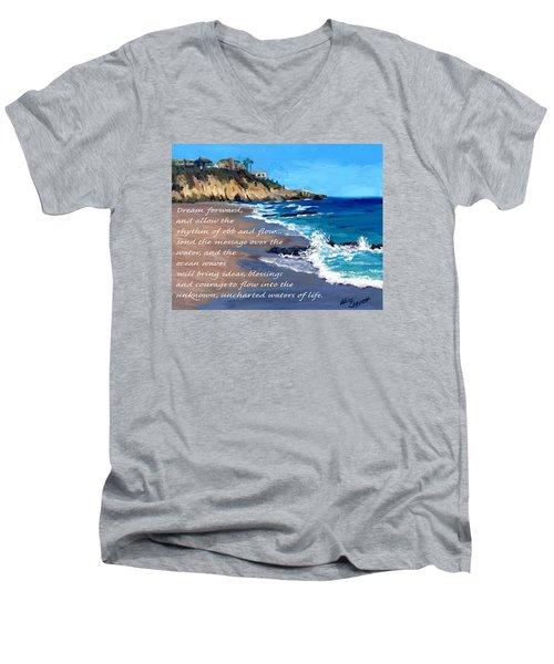 Dream Forward Men's V-Neck T-Shirt by Alice Leggett