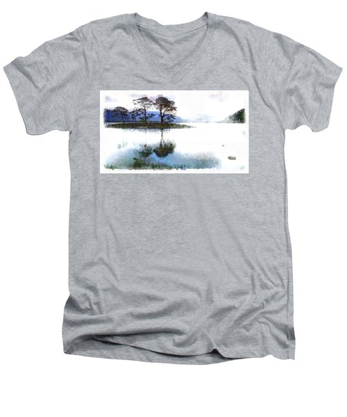 Dream Island Men's V-Neck T-Shirt by Mario Carini
