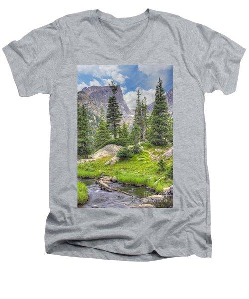 Dream Lake Men's V-Neck T-Shirt by Juli Scalzi
