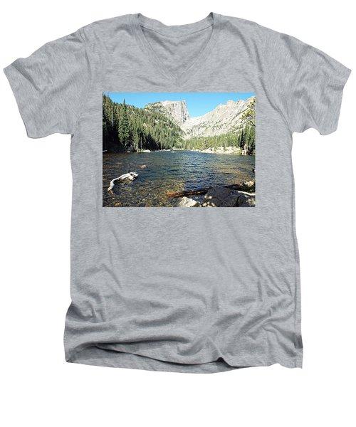 Dream Lake - Rocky Mountain National Park Men's V-Neck T-Shirt by Joseph Hendrix