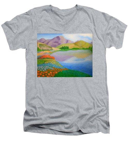 Dream Land Men's V-Neck T-Shirt by Sheri Keith