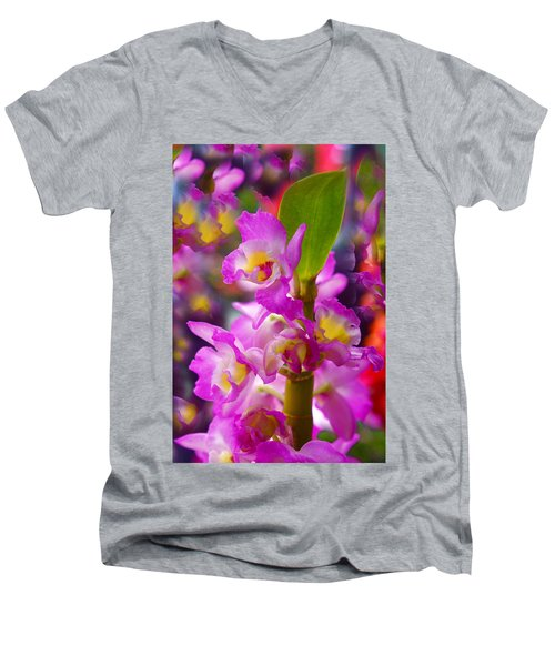Men's V-Neck T-Shirt featuring the photograph Dream Of Spring by Byron Varvarigos
