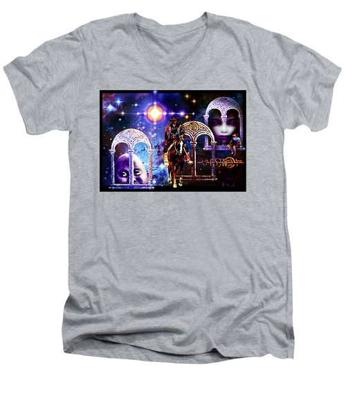 Dream  Rider Men's V-Neck T-Shirt