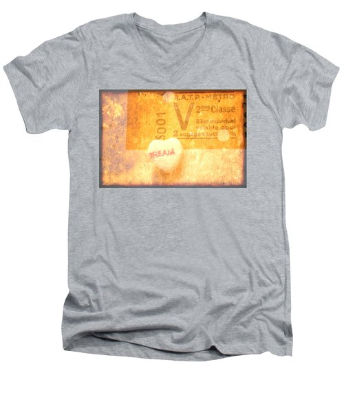 Dream Ticket Men's V-Neck T-Shirt by Toni Hopper