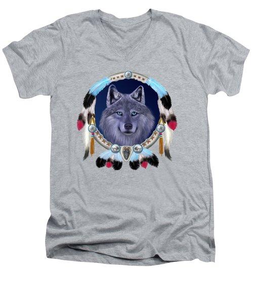 Dream Wolf Men's V-Neck T-Shirt