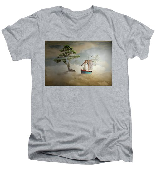 Men's V-Neck T-Shirt featuring the digital art Dreaming High by Nathan Wright