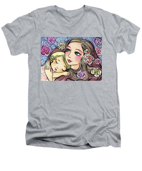 Dreaming In Roses Men's V-Neck T-Shirt