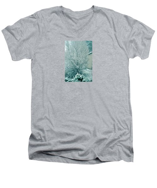 Men's V-Neck T-Shirt featuring the photograph Dreaming Of A White Christmas - Winter In Switzerland by Susanne Van Hulst