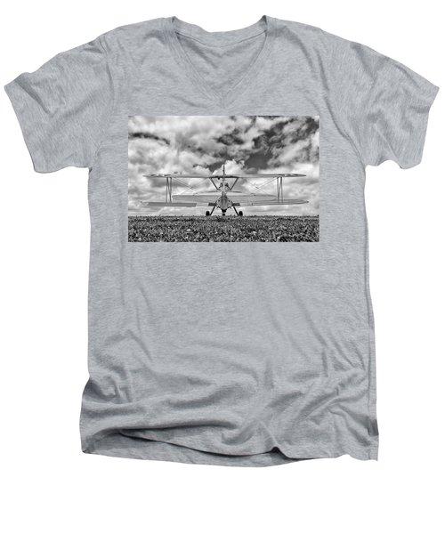 Dreaming Of Flight, In Black And White Men's V-Neck T-Shirt