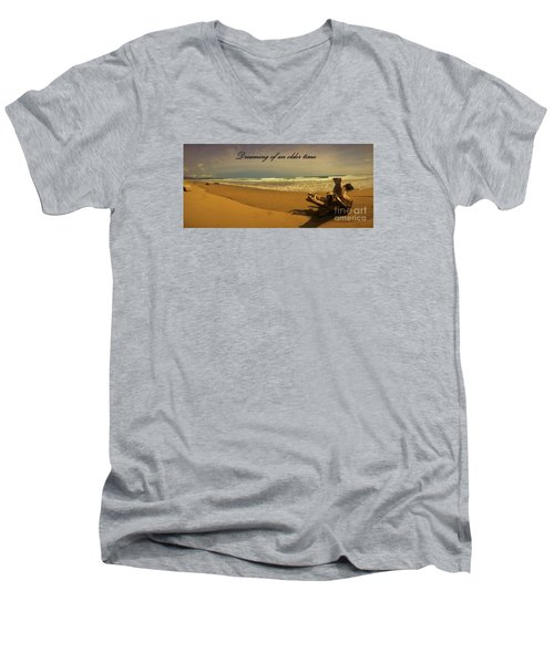 Men's V-Neck T-Shirt featuring the photograph Dreaming by Pamela Blizzard
