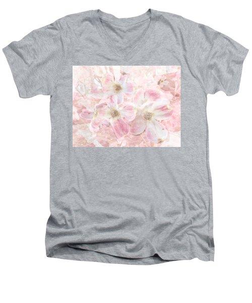 Dreaming Pink Men's V-Neck T-Shirt by Arlene Carmel
