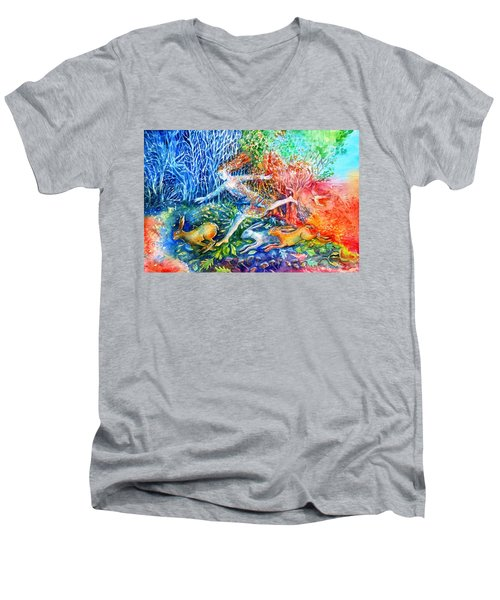 Dreaming With Hares Men's V-Neck T-Shirt