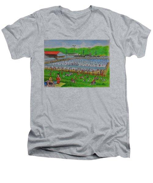 Dreamland Pool Summer 1948 Men's V-Neck T-Shirt