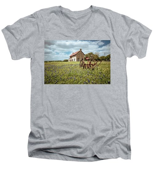 Men's V-Neck T-Shirt featuring the photograph Dreams Of Long Ago by Linda Unger