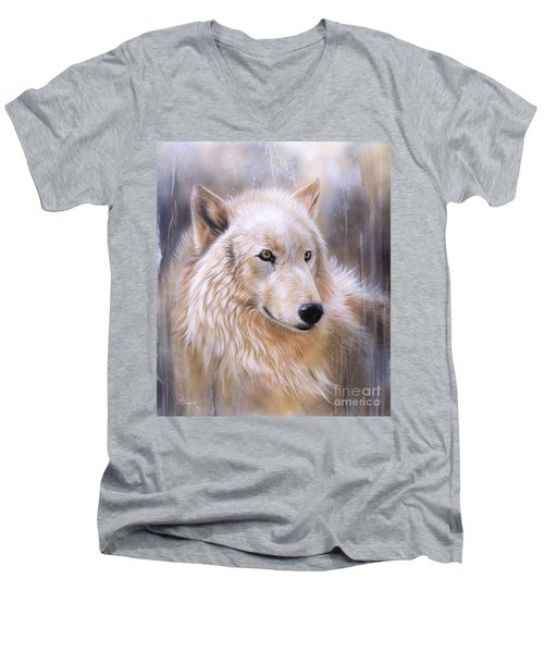Dreamscape - Wolf II Men's V-Neck T-Shirt
