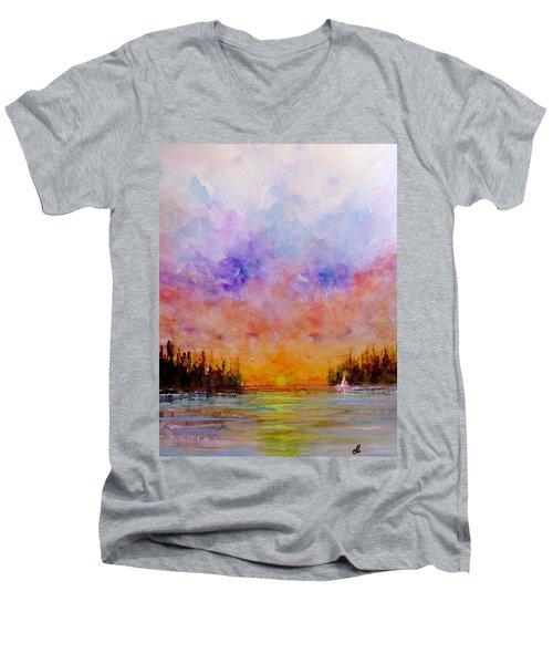 Dreamscape.. Men's V-Neck T-Shirt