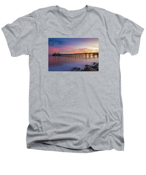 Dreamscape Men's V-Neck T-Shirt by Tassanee Angiolillo