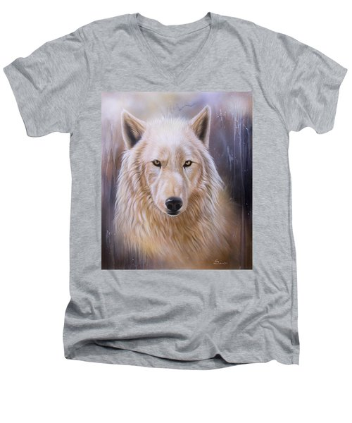Dreamscape Wolf IIi Men's V-Neck T-Shirt