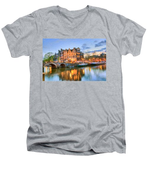 Dreamy Amsterdam   Men's V-Neck T-Shirt