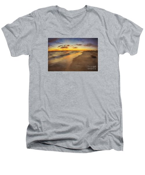 Dreamy Colorful Sunset Men's V-Neck T-Shirt
