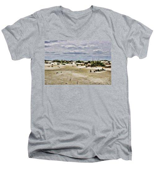 Dreamy Sand Dunes Men's V-Neck T-Shirt