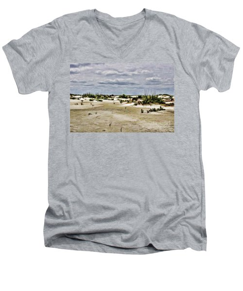 Dreamy Dunes Men's V-Neck T-Shirt by Roberta Byram