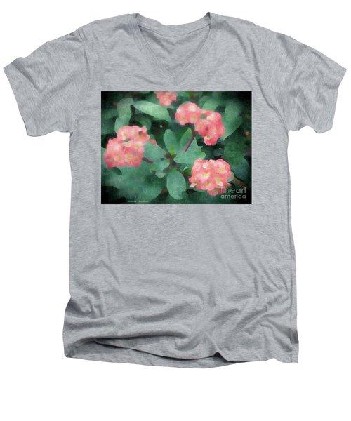 Dreamy Pink Men's V-Neck T-Shirt