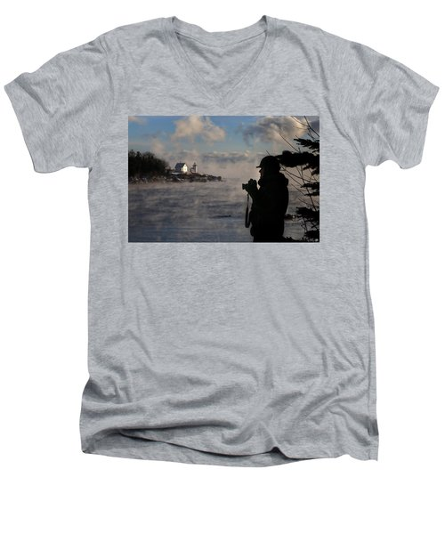 Dressed For Sea Smoke Men's V-Neck T-Shirt