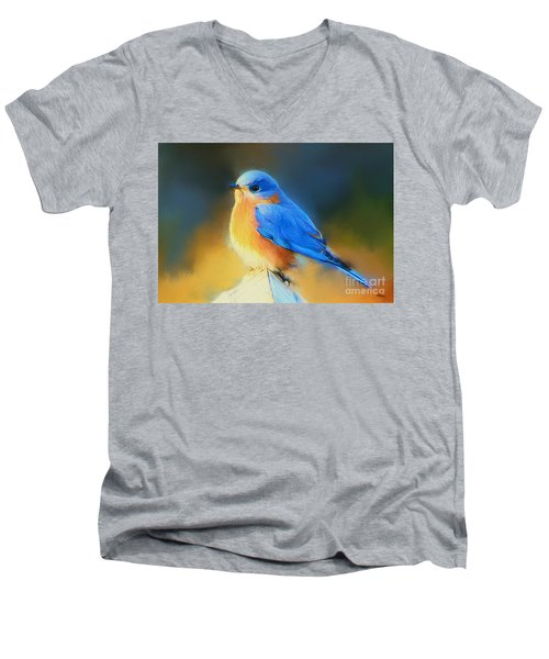 Dressed In Blue Men's V-Neck T-Shirt