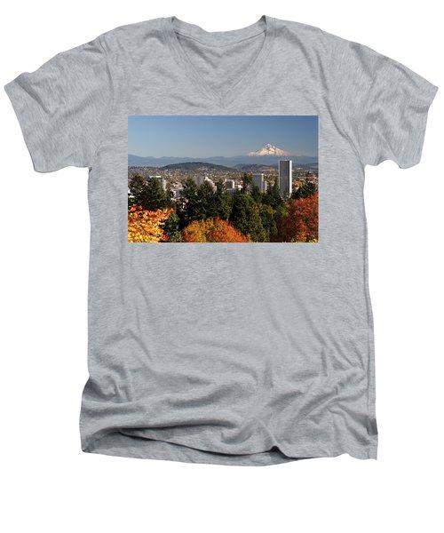 Dressed In Fall Colors Men's V-Neck T-Shirt