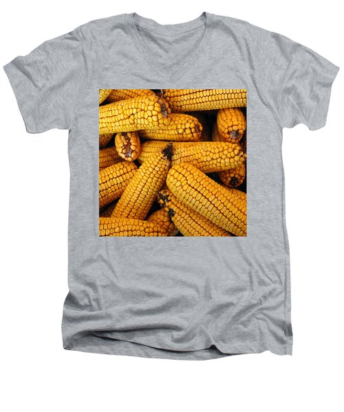 Dried Corn Cobs Men's V-Neck T-Shirt
