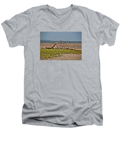 Driftwood With Baracles Men's V-Neck T-Shirt by John Black