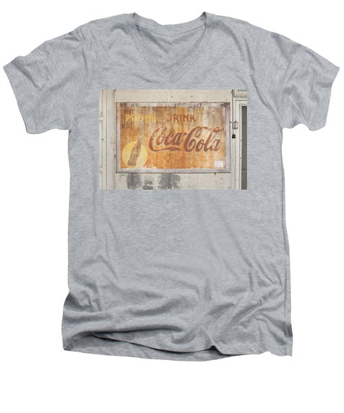 Men's V-Neck T-Shirt featuring the photograph Drink Coca Cola by Mark Greenberg