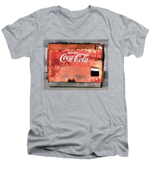Drink Ice Cold Coca Cola Men's V-Neck T-Shirt