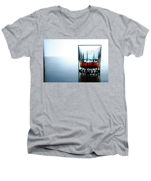 Drink In A Glass Men's V-Neck T-Shirt by Jun Pinzon
